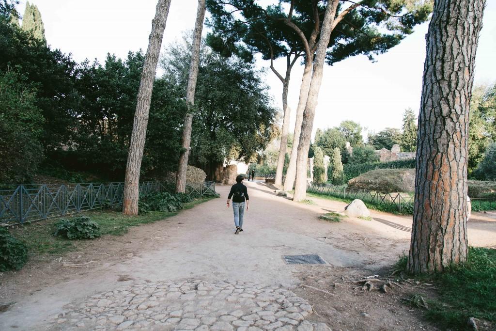 rome italy roman garden