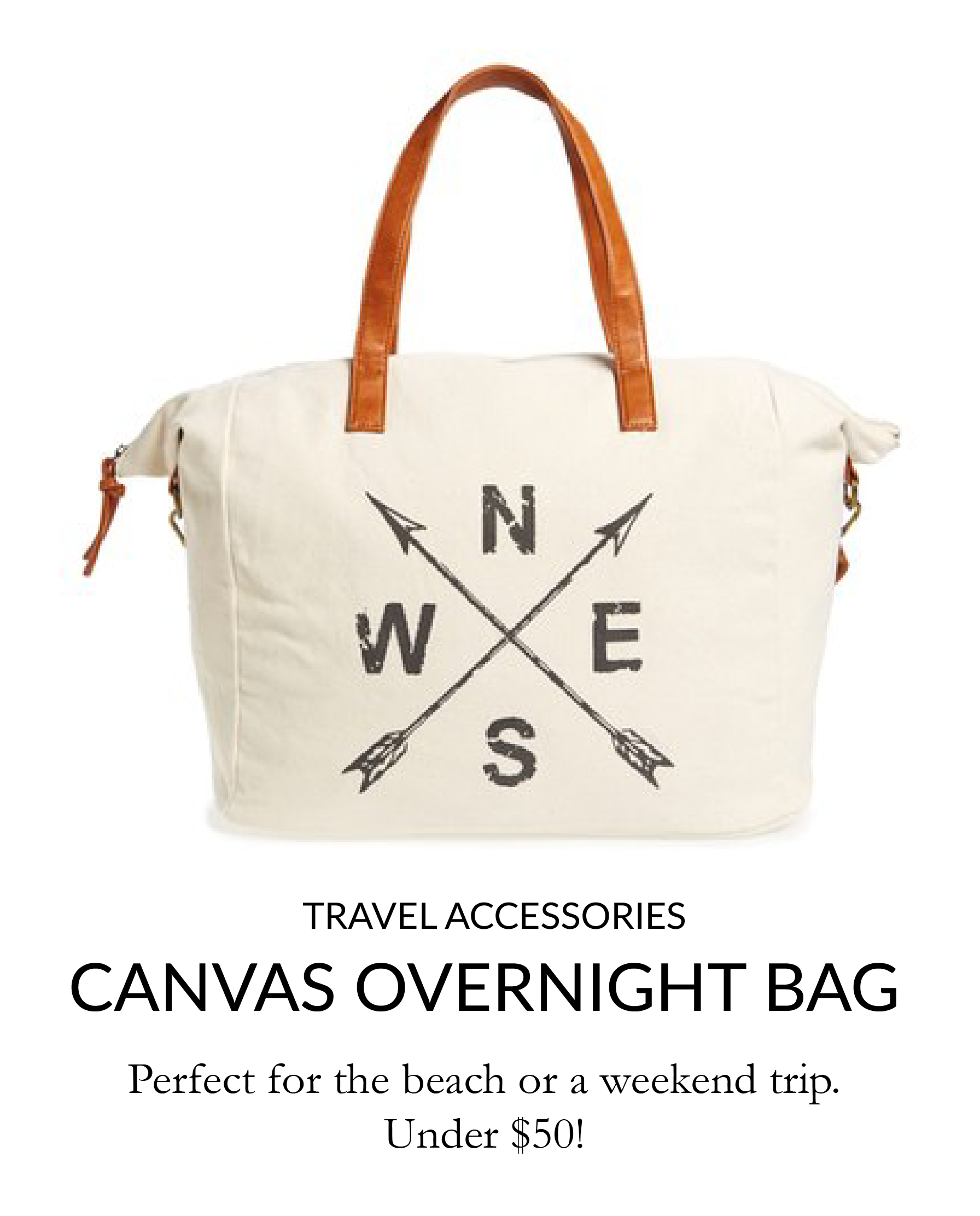 slouchy canvas overnight bag
