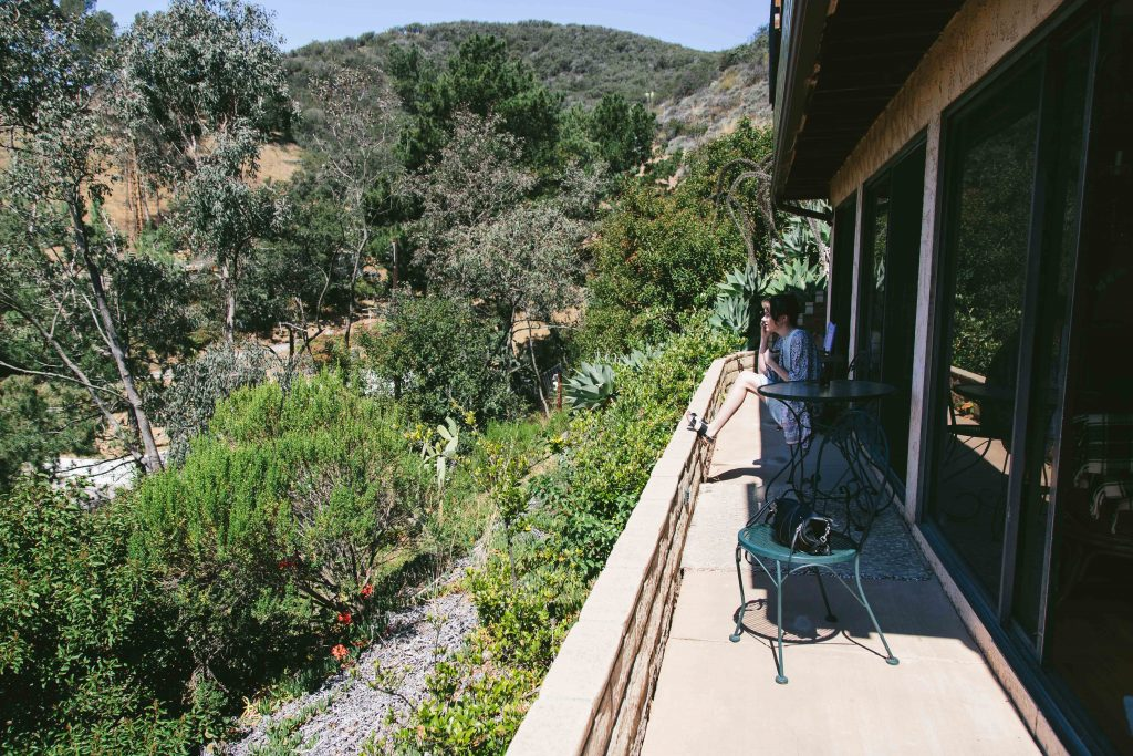 in the Malibu canyon airbnb