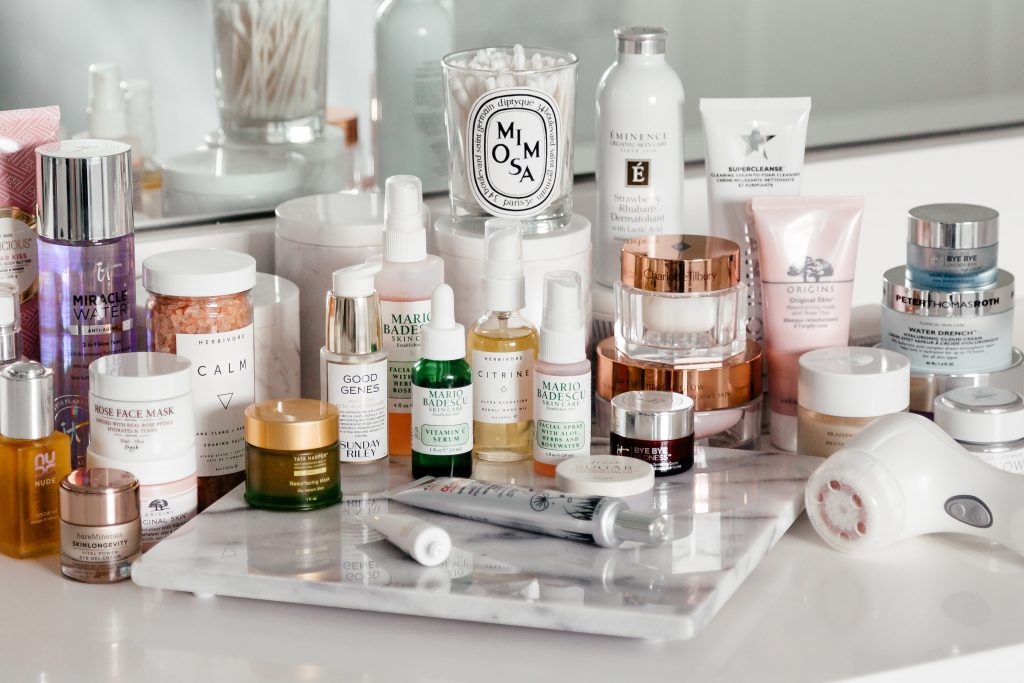 bathroom beauty shelfie
