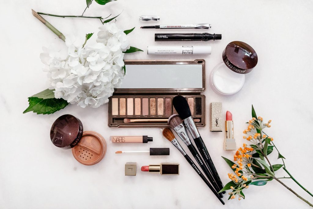 beauty flatlay