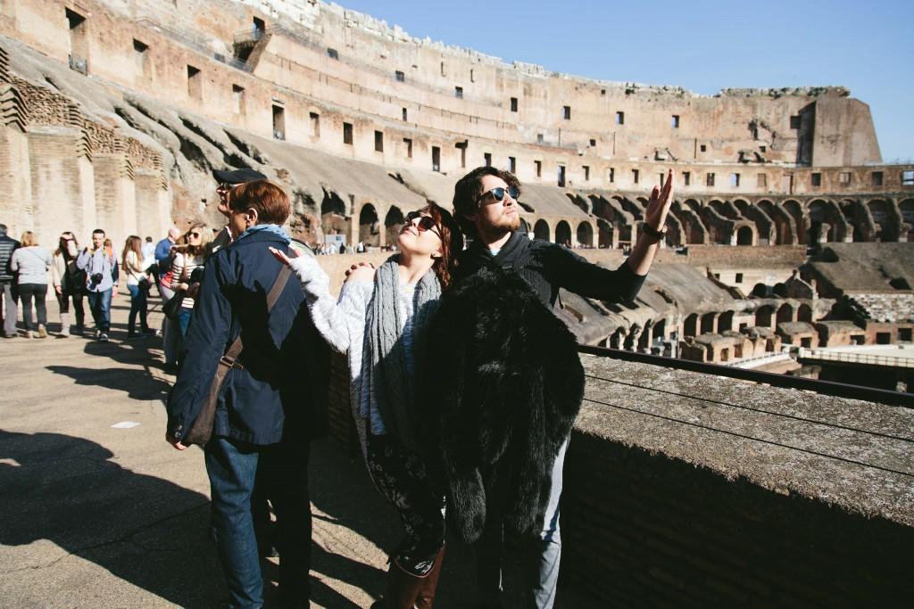 inside rome coliseum