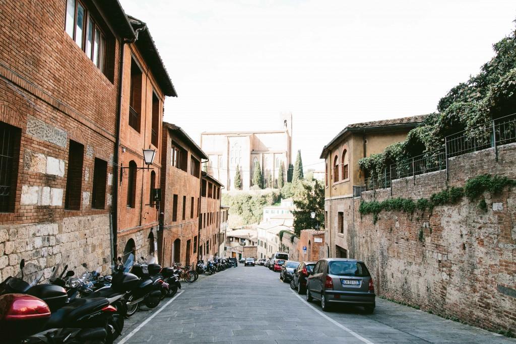 siena italy streets basilica