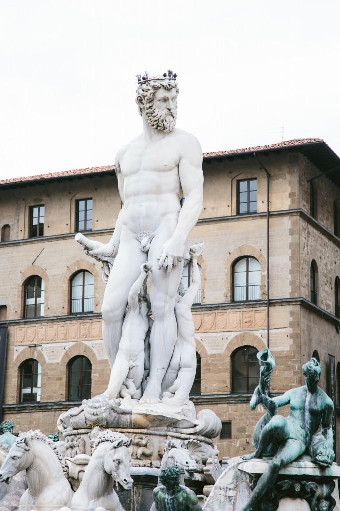 florence italy piazza della signoria statue