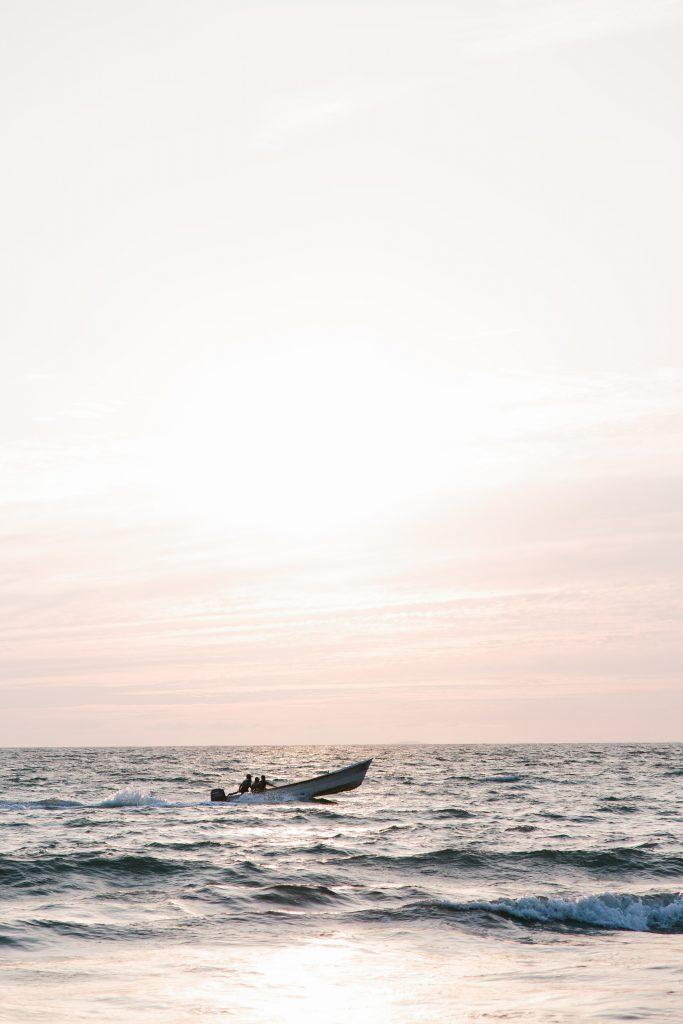 Nuevo Vallarta beach Mexico boat