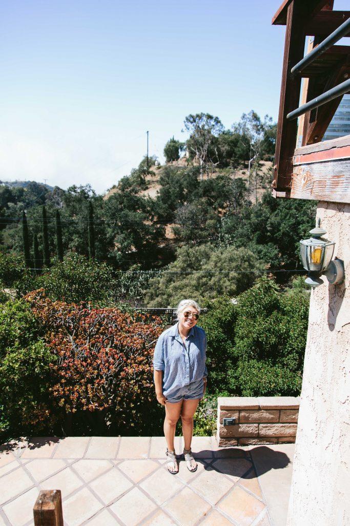 in the Malibu canyon airbnb